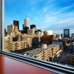 South view from the Sharp Centre of Design. Photo: Richard Johnson, interiorimages.ca.